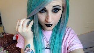Pastel Goth Inspired Makeup & Hair - YouTube