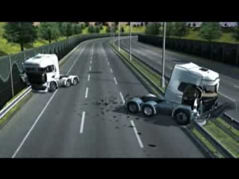 Euro Truck Simulator 2 - Heavy Machinery Damage - Truck Collision Accident
