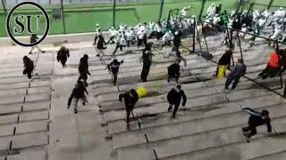 Pelea entre hinchas de Peñarol y Palmeiras