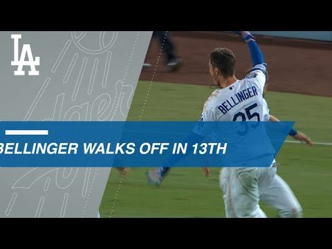Video: Cody Bellinger hits a walk-off single in the 13th