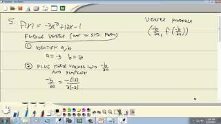 College Algebra: Quadratic Functions