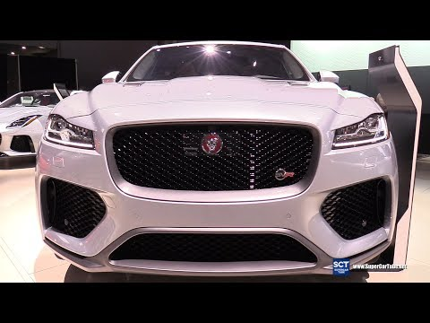2019 Jaguar F-Pace SVR - Exterior And Interior Walkaround - Debut At 2018 New York Auto Show