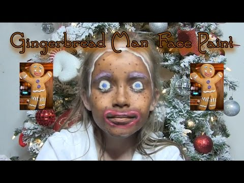 Christmas Face paint: Gingerbread man