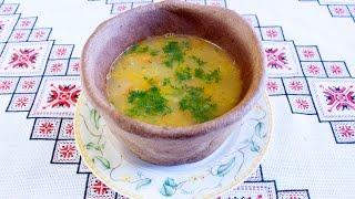 Гороховый суп в хлебных горшочках.