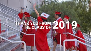 Thank you from the Class of 2019