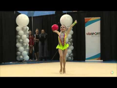 Alexandra Malinovskaia Ball Novice 2016 Rhythmic Gymnastics Elite Canada Championships (видео)
