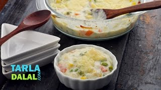 Baked Vegetable Au Gratin by Tarla Dalal