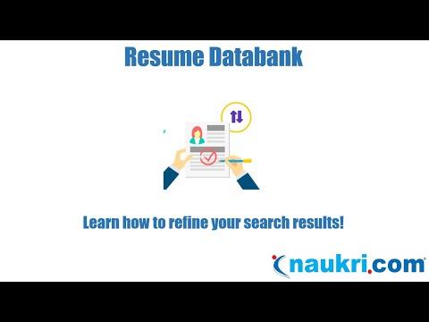 How to work on Naukri's Search Results - Naukri's database?