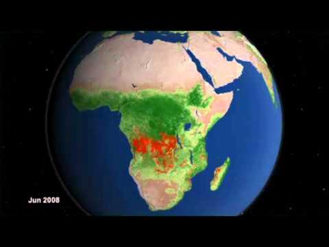 Вид со спутников NASA на мировые пожары за последние 10 лет