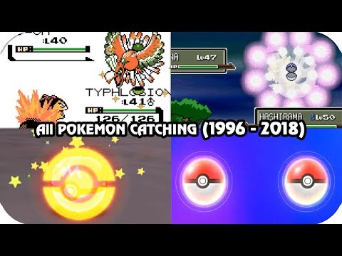 Evolution of Catching Pokémon Animations (1996 - 2018)