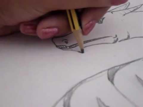 como dibujar un dragón fácil y a mano alzada  ;)