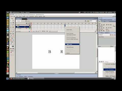 flash 8 tutoriel français comment animer du texte how to