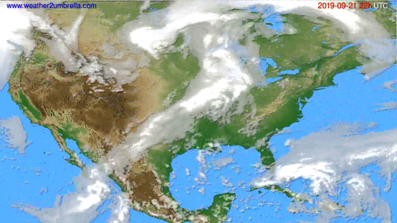 Cloud forecast USA & Canada // modelrun: 00h UTC 2019-09-19