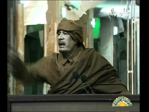 خطاب الزعيم الليبي معمر القذافي