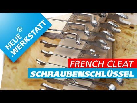 Maulschlüssel + Ringschlüssel und Gabelschlüssel Halter /// French Cleat System // selber machen