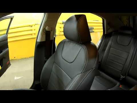 "Чехлы на Kia Cerato 4, серии ""Premium"" - серая строчка"