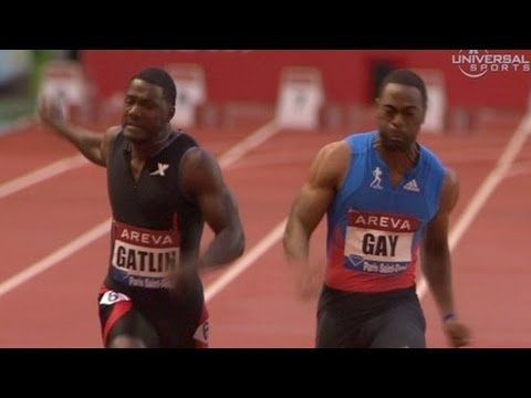 Tyson Gay chases down Gatlin for 100m win in Paris