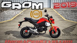 1. 2019 Honda Grom 125 ABS Walk-around 'Cherry Red' | Mini Bike / Motorcycle (miniMOTO / MSX125)