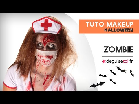 Maquillage Halloween : l'infirmière zombie