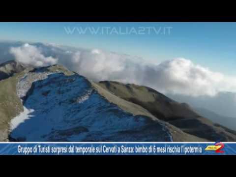 Gruppo di Turisti sorpresi dal temporale sul Cervati a Sanza bimbo di 6 mesi rischia l'ipotermia
