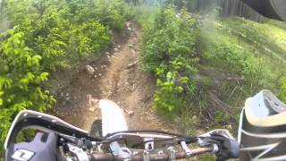 8. YZ250 - trials tire over rocks and roots