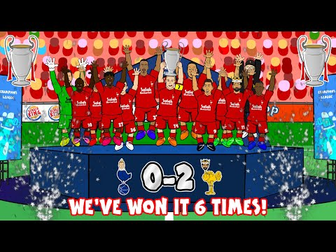 🏆🏆🏆LIVERPOOL 6 TIMES🏆🏆🏆 (0-2 Champions League Final 2019 Tottenham Song Goals Highlights)