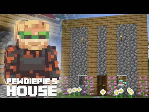 How To Make PewDiePie's House In MINECRAFT!?!