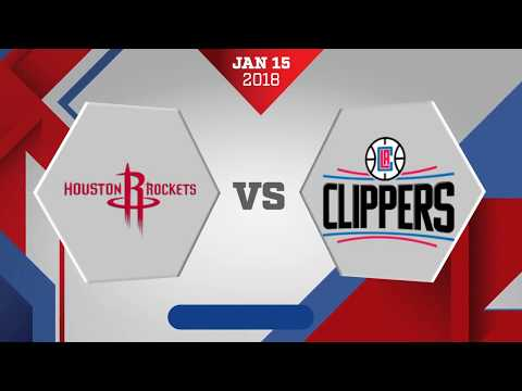 Houston Rockets vs Los Angeles Clippers: January 15, 2018 (видео)