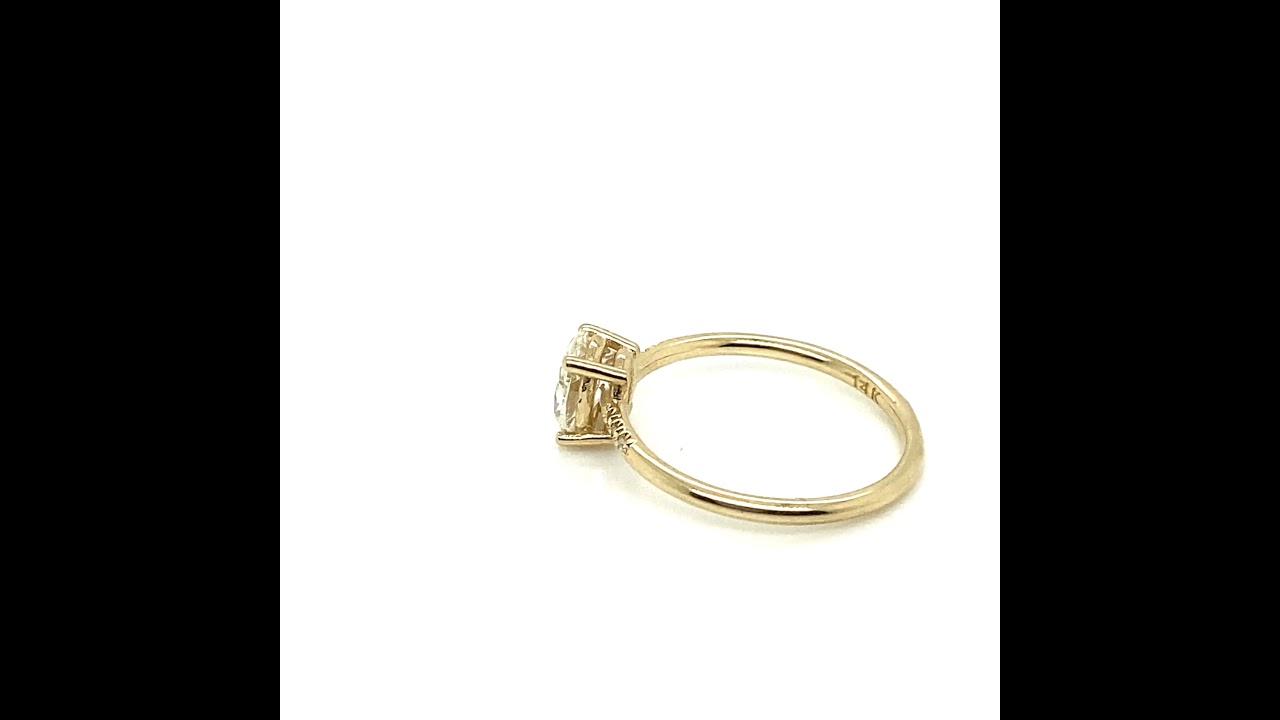 Oval Diamond Equilibrium Engagement Ring