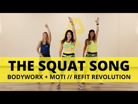 """The Squat Song"" || BODYWORX + MOTi || Dance Fitness Choreography || REFIT® Revolution"