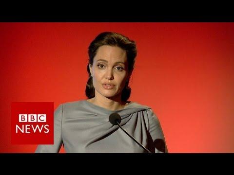 Angelina Jolie Pitt: Refugee system breaking down - BBC News