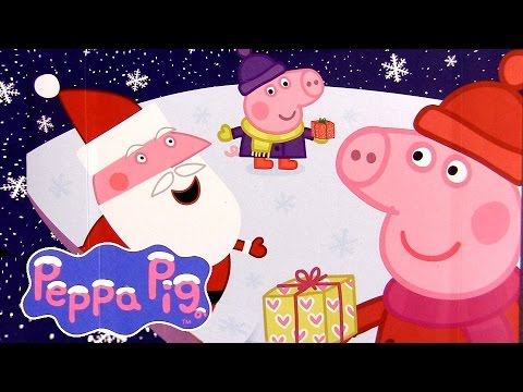"""Peppa Pig Christmas Chocolate Surprise with """"HO HO HO"""" Magnet Nickelodeon Toys by DCToysCollector"""
