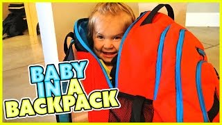 👶BABY IN A BACKPACK! 👶PUPPY GOES DOWN THE SLIDE 🐶SMELLYBELLYTV | FAMILY VLOG