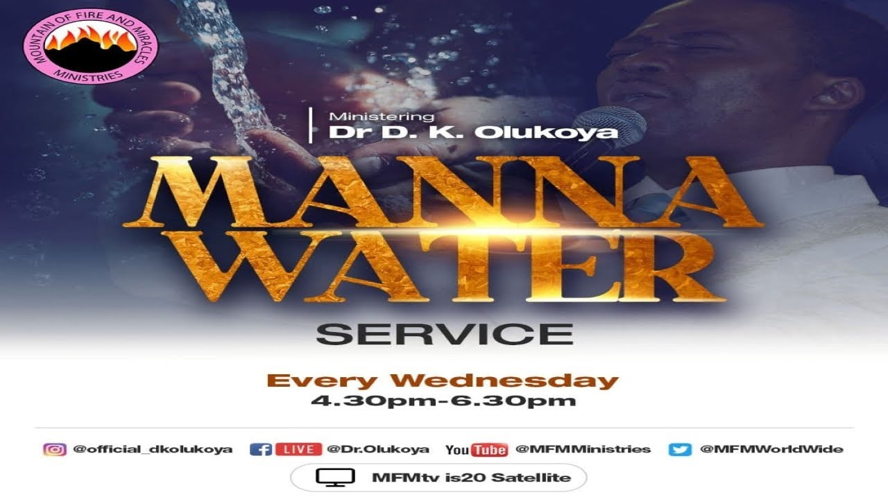 MFM Manna Water 16 June 2021 Today Live Service with Pastor D. K. Olukoya