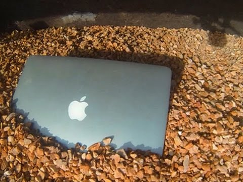 macbook - http://cnet.co/YKoq0V We torture test the superstylish MacBook Pro with Retina Display to see if it can handle a 1400-pound boulder!