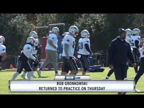 Video: Rob Gronkowski returns to practice Thursday after missing Week 7 game