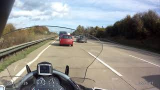 2. BMW K 1200 LT, Highspeed on german autobahn