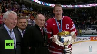 World Hockey Championship: Putin makes surprise appearance to congratulate Canada