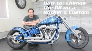 2. How to Oil Change a Harley Davidson Rocker C / Softail + Walk around