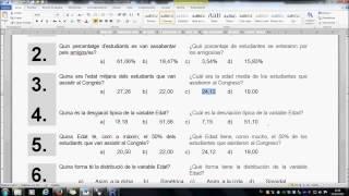 Umh2072 2013-14 Descripción De Datos Y Distribuciones. Práctica 1. Cuestiones De 3 A 7
