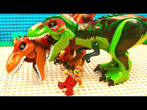 Lego DINOSAURS and Jurassic World Stopmotion /13+