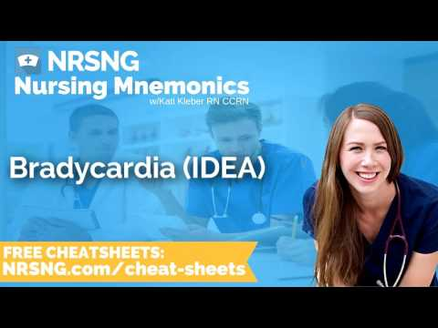 Bradycardia IDEA Nursing Mnemonics, Nursing School Study Tips