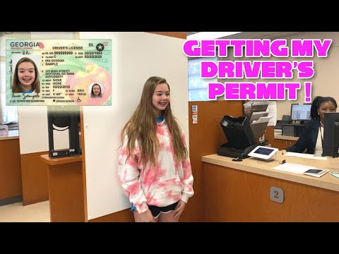 Getting My Driver's Permit!