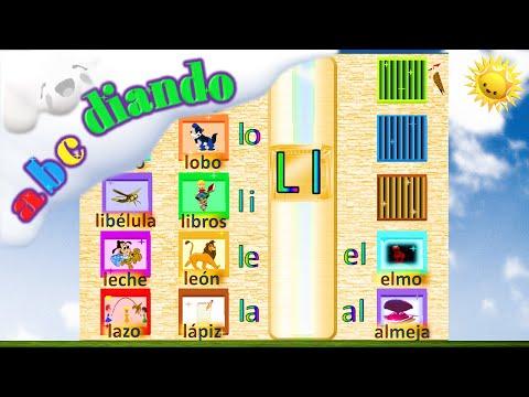 Frases cortas - ABCdiando vídeos para aprender a leer con silabas y palabras de la letra L