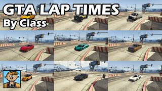 Fastest Cars By Class For Racing (2019) - GTA 5 Best Fully Upgraded Cars Lap Time Countdown