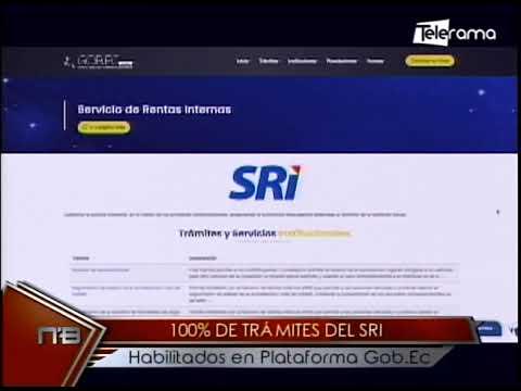 100% de trámites del SRI habilitados en plataforma Gob.Ec