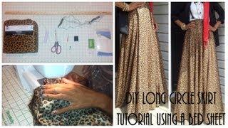 Video Nadira037 | DIY| Long Circle Skirt Tutorial Part 1 | Using a Bed Sheet MP3, 3GP, MP4, WEBM, AVI, FLV Desember 2018