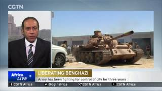 The Libyan National Army is advancing into the final area of Benghazi controlled by militants. [TAKE VO] On Monday, soldiers ...