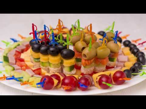 5 видов #Канапе на праздничный стол. Мини бутерброды на шпажках | ГОТОВИМ ДОМА с Оксаной Пашко