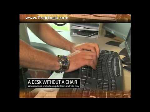 Treadmill Desk from TrekDesk Featured on CNN Edge of Discovery